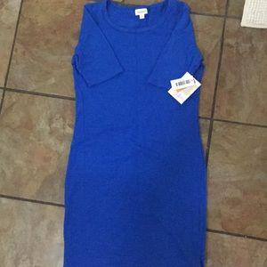 BNWT LuLaRoe Julia dress (M). Solid Royal blue
